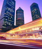 Megacity Highway. At night with light trails in shanghai china Stock Photography
