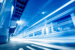 Megacity Highway in China. Megacity Highway in in city China Royalty Free Stock Photo