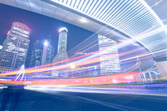 Megacity Highway in China. Of city Royalty Free Stock Image