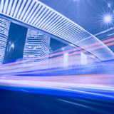 Megacity Highway in China Royalty Free Stock Photo