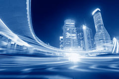 Megacity Highway in China Royalty Free Stock Photography