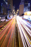 Megacity Highway at night Stock Image