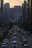 Megacity rush hour royalty free stock photos
