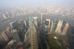 Megacity Shanghai, China. Aerial view over the Megacity Shanghai, China Stock Image