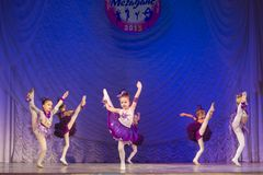 MegaDance舞蹈比赛,米斯克,白俄罗斯 库存图片