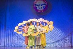 MegaDance舞蹈比赛,米斯克,白俄罗斯 免版税库存照片