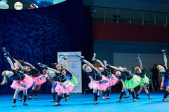 'MegaDance' children's competitions in choreography , 28 November 2015 in Minsk, Belarus. Stock Photos