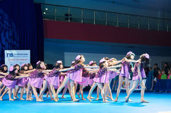 'MegaDance' children's competitions in choreography , 28 November 2015 in Minsk, Belarus. Stock Image