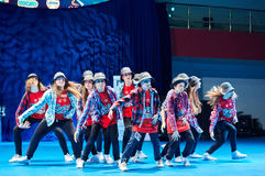 'MegaDance' children's competitions in choreography , 28 November 2015 in Minsk, Belarus. MINSK, BELARUS NOVEMBER 28: unidentified dancers participate in a stock photography
