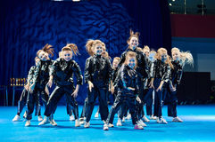 'MegaDance' children's competitions in choreography , 28 November 2015 in Minsk, Belarus. Stock Images