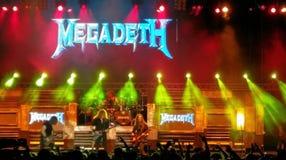 Megadeth konsert, Bucharest, Rumänien Arkivfoton