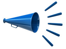 Megafon błękitny ikona Zdjęcia Stock