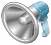 megafon för bullhornloudhailerhögtalare Arkivfoto
