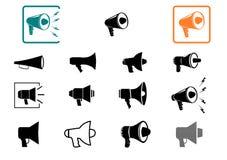 Megafon ikony ustawiać. Obrazy Stock