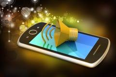 Megafon med den smarta telefonen Royaltyfri Foto