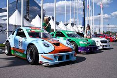 Megafon mitjet race auto Stock Images