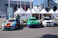 Megafon mitjet race auto Stock Photo