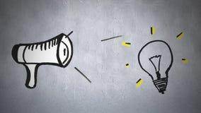 Megafon och ljus kula vektor illustrationer