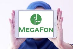MegaFon telecom operator logo Stock Photos