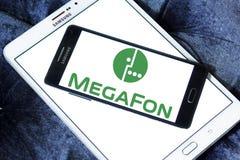 MegaFon-Telekommunikations-Betreiberlogo Stockfoto
