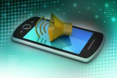Megafon z mądrze telefonem Obraz Royalty Free