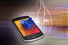 Megafon z mądrze telefonem Zdjęcie Stock