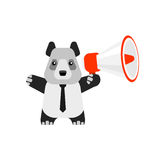 Megafone da panda Fotos de Stock