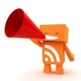 Megafone de RSS Imagem de Stock Royalty Free