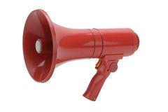 Megafone vermelho Imagens de Stock Royalty Free