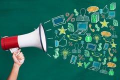 Megafono con il concetto di vendita di Digital immagine stock libera da diritti