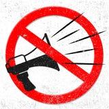 Megafono dentro il segnale stradale di proibizione, vettore royalty illustrazione gratis