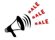 Megafono di vendita Fotografia Stock