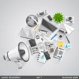Megafonu biznesu styl ustawia 1 Fotografia Stock