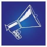 Megafoon, luidspreker geïsoleerd symbool Stock Afbeeldingen