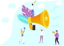 Megafoon met mensen vector illustratie