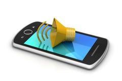 Megafoon met slimme telefoon Royalty-vrije Stock Fotografie