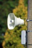 Megafoon op de kolom Stock Afbeelding