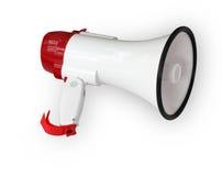 Megafoon op wit Royalty-vrije Stock Afbeelding