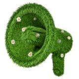 Megafoon van groen gras, het 3D teruggeven royalty-vrije illustratie