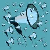 Megafoon vectorart. Stock Afbeeldingen