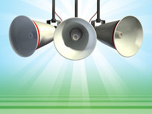 Megafoons vector illustratie