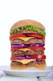 Megahamburger Royalty-vrije Stock Afbeeldingen