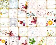 Megainzameling van de herfstachtergronden Stock Afbeelding