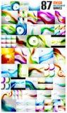 Megainzameling van golf abstracte achtergronden Stock Foto