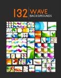 Megainzameling van golf abstracte achtergronden Royalty-vrije Stock Fotografie
