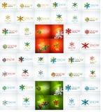 Megainzameling van Kerstmis en de winterontwerp Royalty-vrije Stock Afbeeldingen