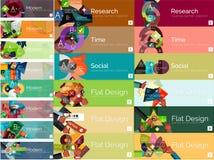 Megainzameling van vlakke Web infographic concepten Stock Foto