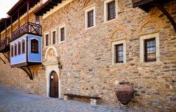 Megali Panagia monastery front yard, Samos, Greece Royalty Free Stock Photos