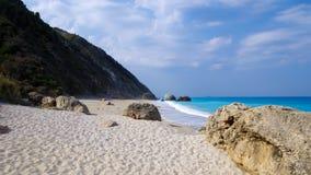 Megali Petra Beach, Lefkada Island, Levkas, Lefkas, Ionian sea, Greece Stock Photos