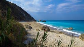 Megali Petra Beach, Lefkada Island, Levkas, Lefkas, Ionian sea, Stock Images